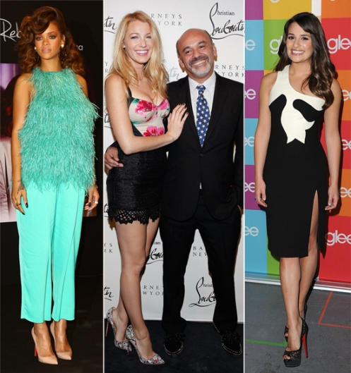 Louboutin outlet shoes in celebrities' feet